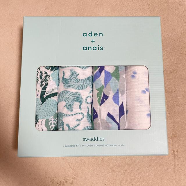 aden+anais(エイデンアンドアネイ)の【新品・未使用】エイデンアンドアネイ スワドル おくるみ 4枚セット キッズ/ベビー/マタニティのこども用ファッション小物(おくるみ/ブランケット)の商品写真