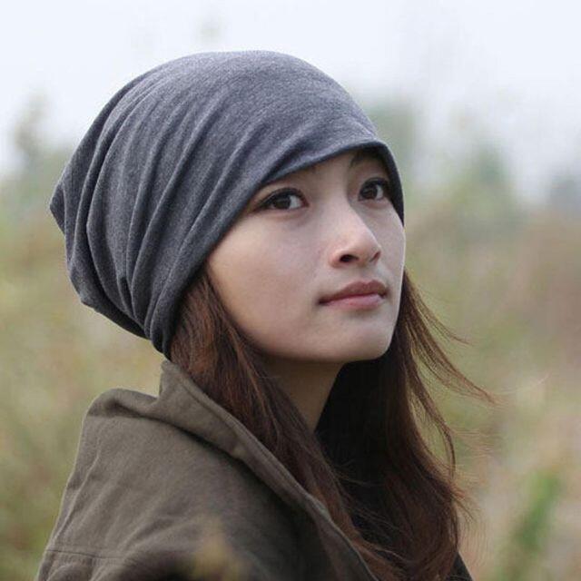 ワッチ ニット帽子2枚 男女兼用 ブラック&グレー 医療用帽子にも最適 レディースの帽子(ニット帽/ビーニー)の商品写真