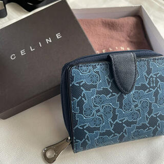 celine - 【未使用品】CELINE セリーヌ サルキーライン 財布 ネイビー 馬車