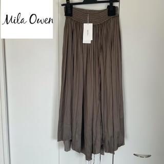 Mila Owen - 【新品未使用】ミラオーウェン Mila Owen プリーツスカート ブラウン