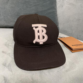 バーバリー(BURBERRY)の新品☆バーバリーBURBERRYキャップ 立体刺繍ブラック(キャップ)