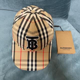 バーバリー(BURBERRY)の新品☆ バーバリーBURBERRYキャップ帽子バーバリーチェックTB立体刺繍(キャップ)