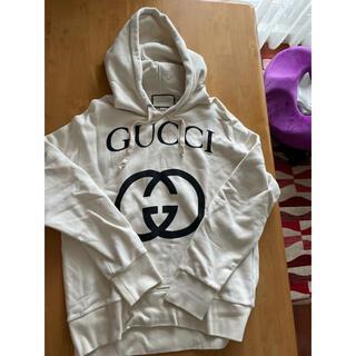 Gucci - GUCCI インターロッキング パーカー S ホワイト