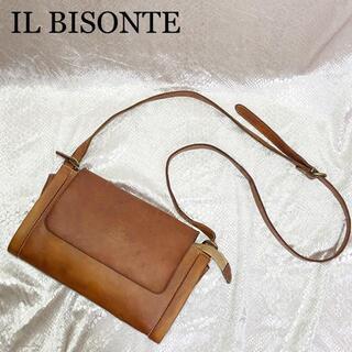 IL BISONTE - エイジングを楽しむ☆イルビゾンテ ショルダーバッグ ブラウン 茶系 フラップ