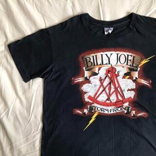 【80s USA製】BILLY JOEL バンドTシャツ 両面プリント 黒 XL