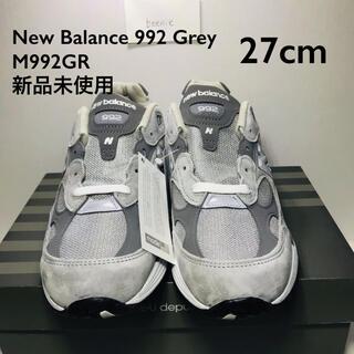 New Balance M992GR Grey 27cm(スニーカー)