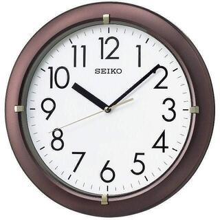 セイコー(SEIKO)のセイコー クロック 掛け時計 アナログ 茶 メタリック KX621B(掛時計/柱時計)