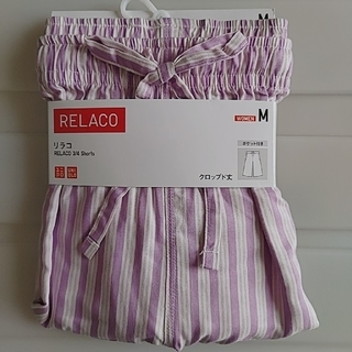 UNIQLO - 新品 M リラコ ストライプ (パープル系)
