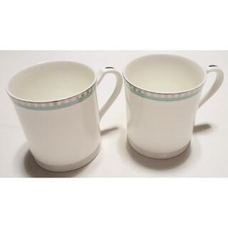 ティファニー(Tiffany & Co.)の大人気ブランド食器(ティファニー プラチナブルーバンド ペアマグカップ)新品格安(グラス/カップ)