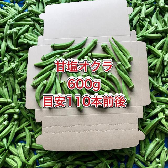 【鹿児島産】甘塩オクラ箱込み600g^_^ 食品/飲料/酒の食品(野菜)の商品写真