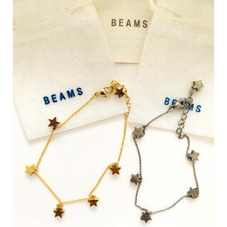 BEAMS - BEAMS♡スター星 ブレスレット ゴールド&シルバーセット 美品