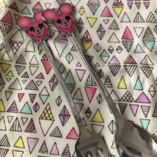 Disney - ミッキーバルーン カトラリーセット ピンク スプーン&フォーク