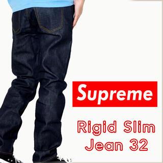 シュプリーム(Supreme)の【Supreme】Rigid Slim Jean indigo 32(デニム/ジーンズ)