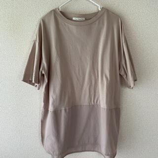 NATURAL BEAUTY BASIC - M ナチュラルビューティーベーシック ベージュ チュニック  Tシャツ