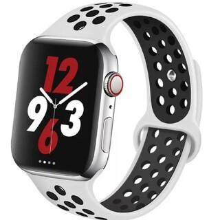 Apple Watch スポーツ バンド 38/40mm ホワイト/ブラック