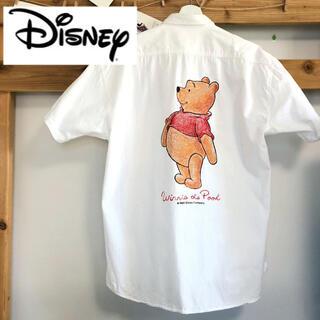 Disney - Disney プーさん プリントシャツ 古着