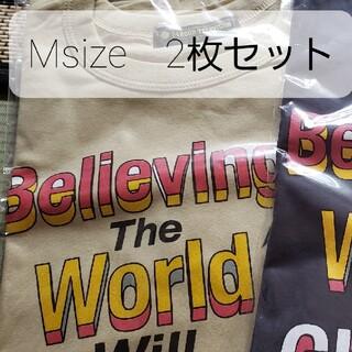 ジャニーズ(Johnny's)の24時間テレビ2021チャリティーTシャツMsize2色 グレー&カーキ(Tシャツ(半袖/袖なし))