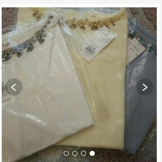 ダズリン(dazzlin)のダズリン♡ビジュー付きTシャツ イエロー(Tシャツ(半袖/袖なし))
