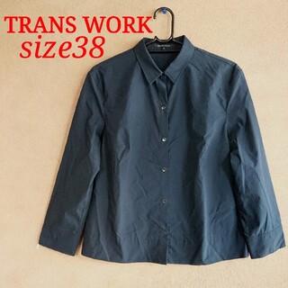 TRANS WORK - 美品 トランスワーク 濃紺 コットンシャツ 38サイズ