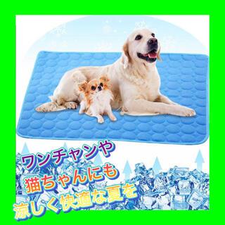 【新品】【ブルー / 50×40 】ペット用 ひんやり 冷感 マット ペット