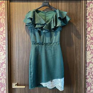 7/31まで値下げ中✨新品*高級ミニドレス  キャバドレス 袖あり フリル