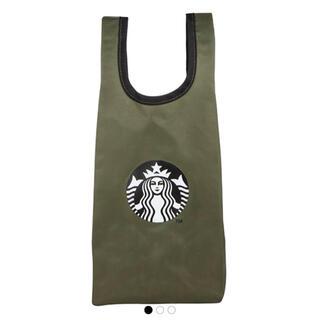 Starbucks Coffee - スターバックス エコバッグ サイレンロゴ モスグリーン系 ラスト1個