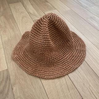 コーエン(coen)のcoen ミニマルこま編みハット 麦わら帽子(麦わら帽子/ストローハット)