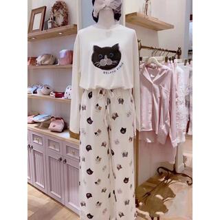 ジェラートピケ(gelato pique)のジェラートピケ 猫モチーフTシャツ&ロングパンツ 上下セット 新品未使用タグ付き(ルームウェア)