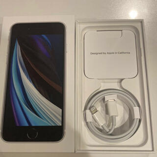 iPhone - iPhone SE2 ホワイト SIMフリー 新品未使用 フルセット  64GB