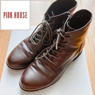 PINK HOUSE - 定価18000円ピンクハウス♡リボンアップショートブーツ こげ茶 23.5cm