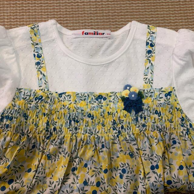 familiar(ファミリア)のfamiliar 90cm トップス チュニック キッズ/ベビー/マタニティのキッズ服女の子用(90cm~)(Tシャツ/カットソー)の商品写真