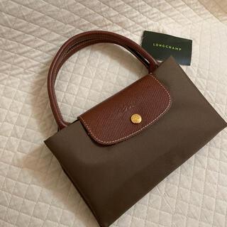 ロンシャン(LONGCHAMP)の美品 ロンシャン プリアージュ Mサイズ カーキ色 トートバッグ(トートバッグ)