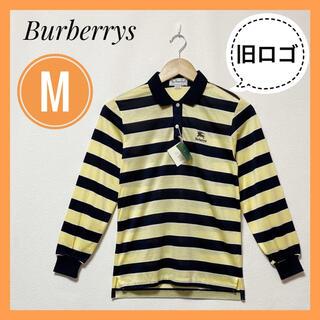 バーバリー(BURBERRY)の訳あり❗新品未使用品✨バーバリー ポロシャツ ゴルフウェア 90s M イエロー(ポロシャツ)