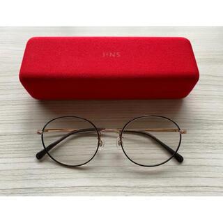 ジンズ(JINS)の【ほぼ未使用】J!NS Modern DECO metal おしゃれ丸眼鏡(サングラス/メガネ)