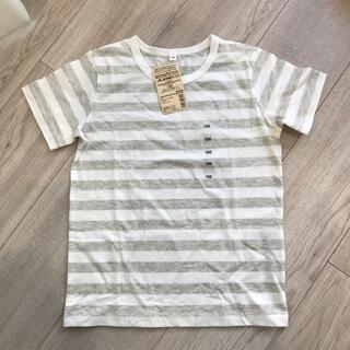 ムジルシリョウヒン(MUJI (無印良品))の無印良品 しましま半袖Tシャツ グレー(Tシャツ/カットソー)