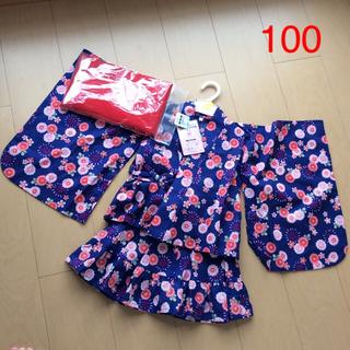 ニシマツヤ(西松屋)の新品 浴衣ドレス 帯付き  100(甚平/浴衣)