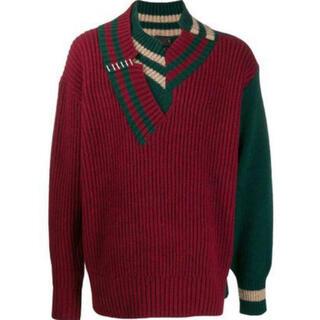 kolor - Kolor ニット セーター クレイジーパターン ドッキング クレイジー