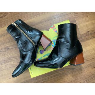グレイル(GRL)のGRL ブーツ 黒 24.5㎝(ブーツ)