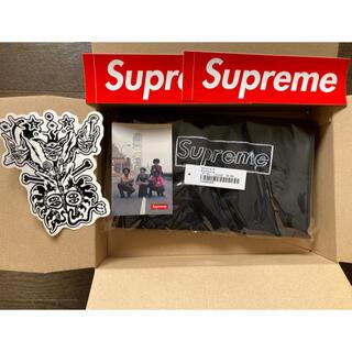 Supreme - 商品名:KAWS Chalk Logo Tee Black Large