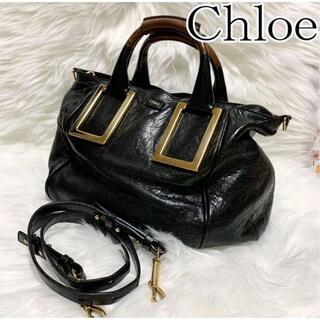 Cartier - 超美品《Chloe 》エテル 2wayハンドバッグ 黒 レザー 定番 ゴールド