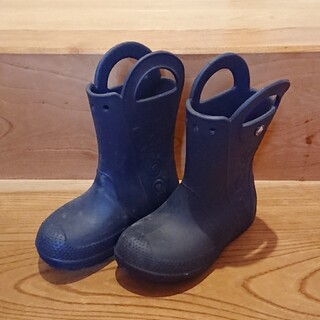 クロックス(crocs)のクロックス 長靴 C13 19センチ ネイビー(長靴/レインシューズ)