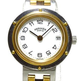 エルメス(Hermes)のエルメス 腕時計 クリッパー レディース 白(腕時計)