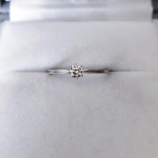 アーカー(AHKAH)のアーカー ダイヤモンド ソルティアラウンド リング K18WG 0.15ct(リング(指輪))