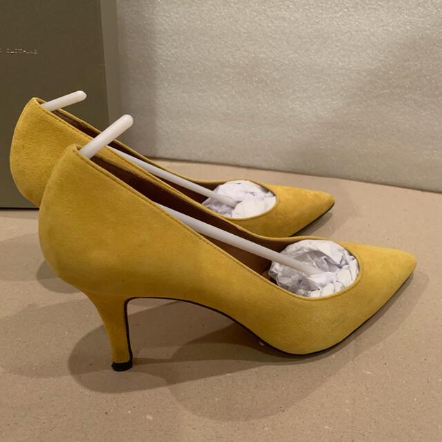 DOUBLE STANDARD CLOTHING(ダブルスタンダードクロージング)のダブルスタンダードクロージング  スエードパンプス24.5黄色 レディースの靴/シューズ(ハイヒール/パンプス)の商品写真