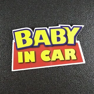 BABY IN CARマグネットステッカー チャイルドシートとご一緒に