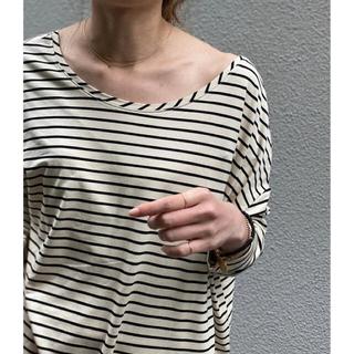 Noble - NOBLE ソフトテンジクボーダーロングTシャツ