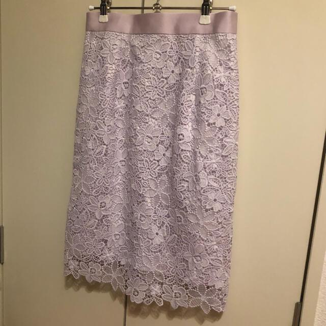 Apuweiser-riche(アプワイザーリッシェ)のケミカルレースタイトスカート レディースのスカート(ひざ丈スカート)の商品写真