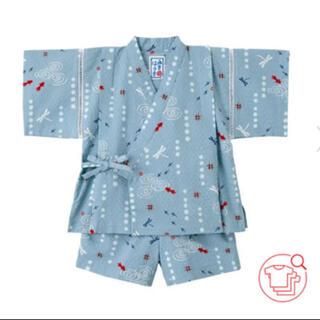 ミキハウス(mikihouse)のミキハウス 甚平 サイズ100  美品 リンタン1230様専用(甚平/浴衣)