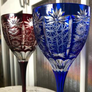 切り子 切子 江戸切子 薩摩切子 ワイングラス ペアグラス クリスタルガラス