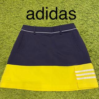 adidas - adidas ゴルフウェア ミニスカート S ネイビー×イエロー